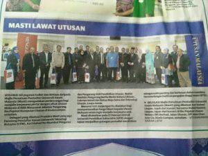 FOTO LAWATAN PPUiTM BERSMA MAJLIS PERSATUAN PENTADBIR UNIVERSITI AWAM MALAYSIA (MASTI) KE UTUSAN