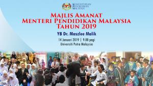 Majlis Amanat Menteri Pendidikan Malaysia 2019