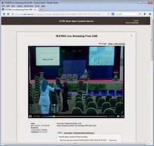 Siaran Langsung Perutusan Pentadbiran UiTM 2014 pada 20 MAC 2014