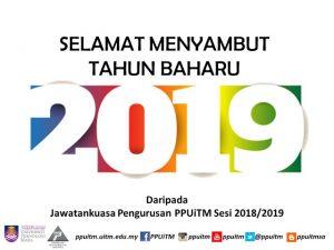 Selamat Tahun Baharu 2019.